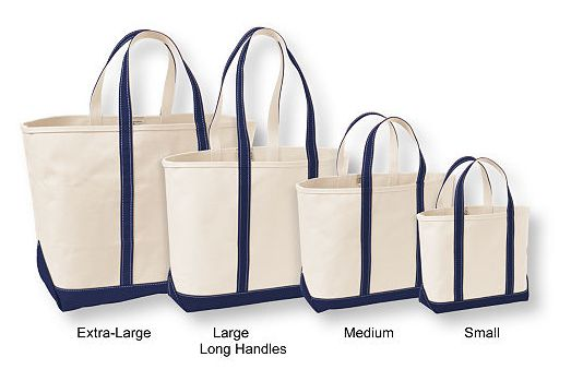 llbeanのトートバッグ(ブルー)