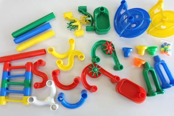 ピタゴラスイッチのおもちゃ「くもんのくみくみスロープ」部品 (2)
