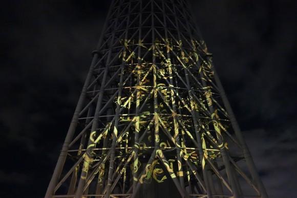 2015年東京スカイツリーのクリスマスプロジェクションマッピング (17)