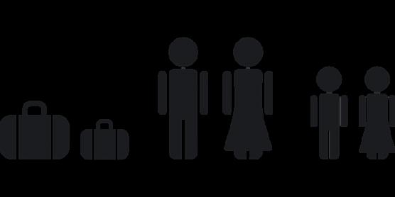 家族と荷物