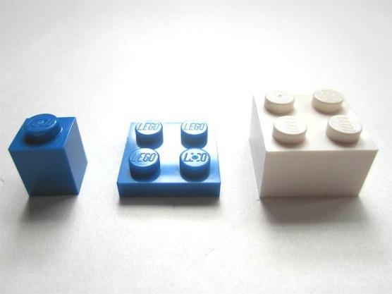 レゴブロックの大きさ比較 (1)