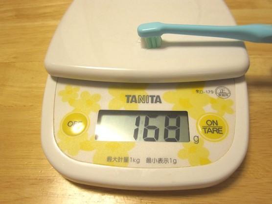 歯ブラシは150g~200gの力