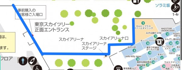 東京スカイツリーのプロジェクションマッピングはどこがよく見えるか (1)