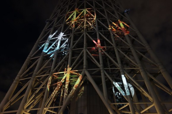 2015年東京スカイツリーのクリスマスプロジェクションマッピング (11)