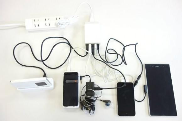 充電コードを整理する (3)