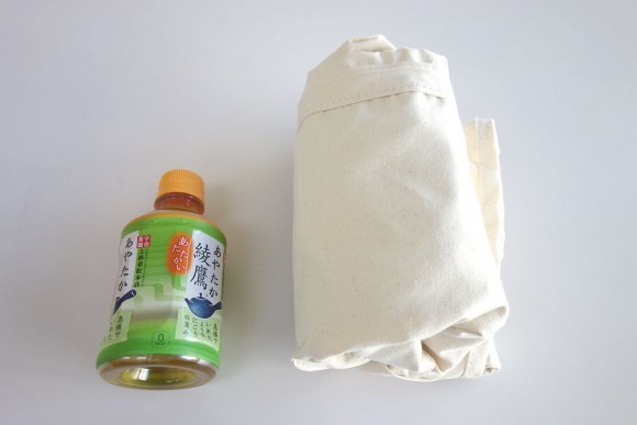 エルエルビーンのグローサリートートを畳んだ時のサイズ(洗濯前)