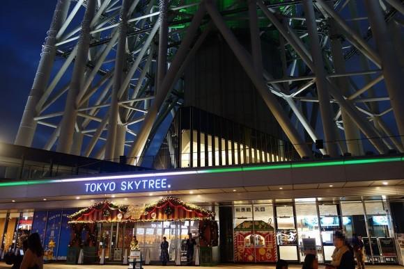 2015年東京スカイツリーのクリスマスプロジェクションマッピング (2)