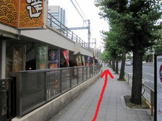 品川駅から八ツ山橋への行き方 (3)