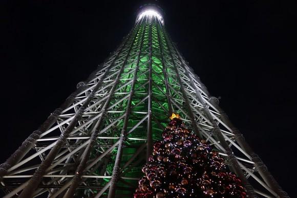 2015年東京スカイツリーのクリスマスプロジェクションマッピング (6)