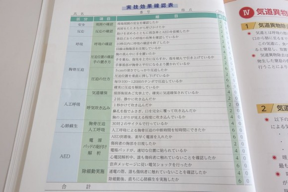 東京都の上級救命講習 (7)