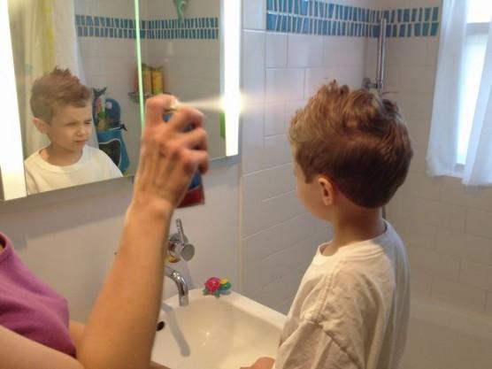 シリコーン入りヘアスプレーの影響 (1)
