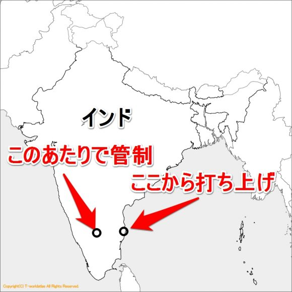 HAKUTOのインドロケット打ち上げ場所と管制場所