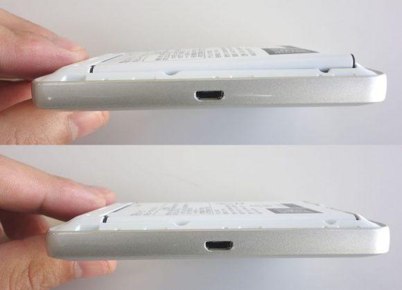 WiMAXルーターWX03のバッテリー膨らむ前と後