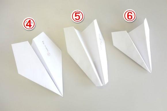 よく飛ぶ紙飛行機4号機から6号機