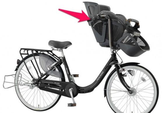 子ども乗せ自転車_前乗せシート