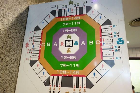 両国国技館の席の配置