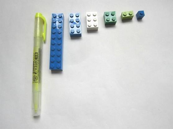 レゴブロックの大きさ比較 (2)