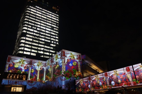 2015年東京スカイツリーのクリスマスプロジェクションマッピング (10)