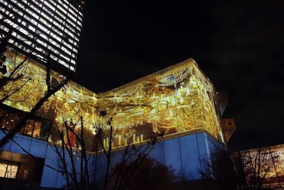 2015年東京スカイツリーのクリスマスプロジェクションマッピング (1)