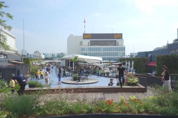 西武池袋本店 本館9階屋上「食と緑の空中庭園」 (2)