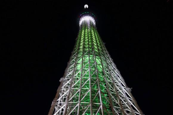 東京スカイツリー_プロジェクションマッピング2014 (2)