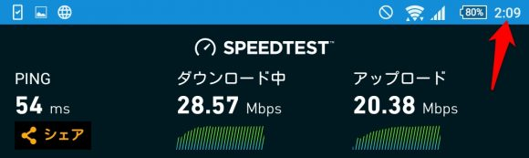 WiMAXの速度制限午前2時を過ぎてルーター再起動